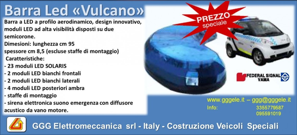 "Barra led ""Vulcano"" in superofferta!!!"