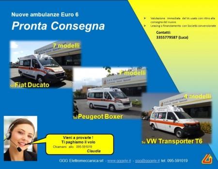 Ambulanze in pronta consegna !