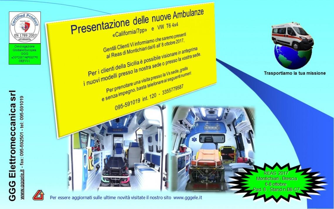 Le nuove ambulanze GGG al Reas 2017