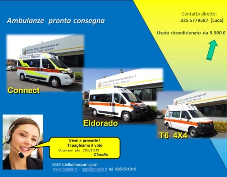 Ambulanze in pronta consegna