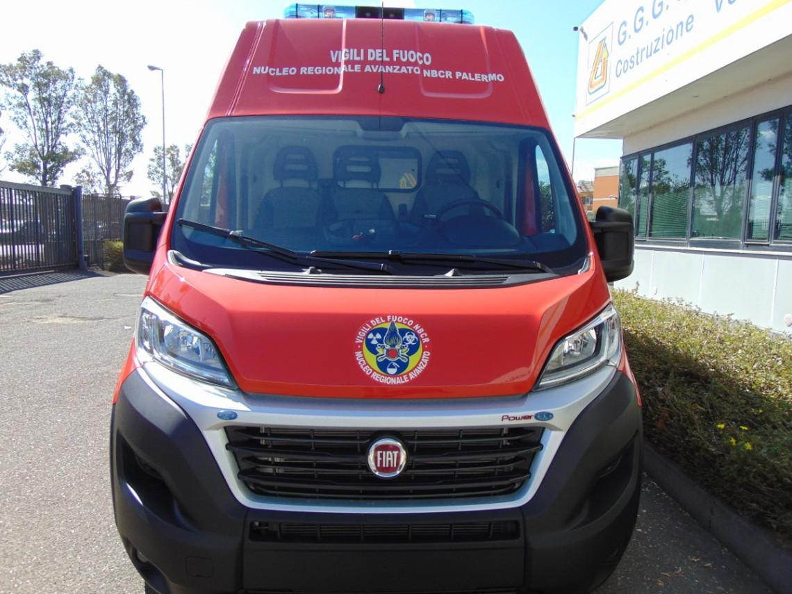 Laboratorio mobile Nucleo Regionale Avanzato NBCR VVF Palermo
