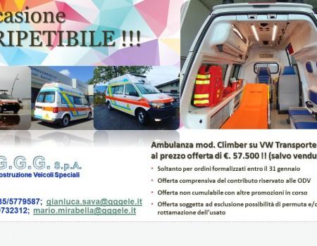 Ambulanza modello Climber in offerta !